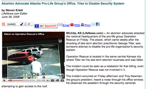 Abortion Advocate Attacks Pro-Life Group's Office, Tries to Disable Security System_1246322078484