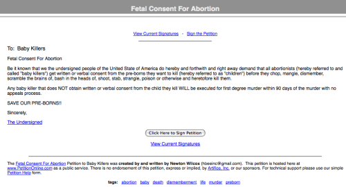 Fetal Consent For Abortion Petition_1248895814974