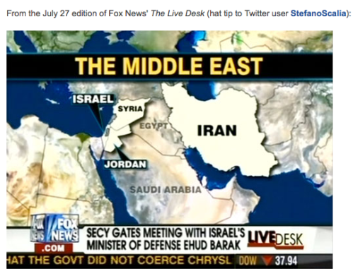 Fox News graphics department has shaky grasp of Mideast geography | Media Matters for America_1248809516787