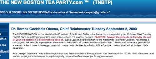 Dr. Barack Goebbels Obama, Chief Reichmaster Tuesday September 8, 2009_1252190161048