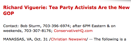 Richard Viguerie: Tea Party Activists Are the New GOP - Christian Newswire_1257053057120